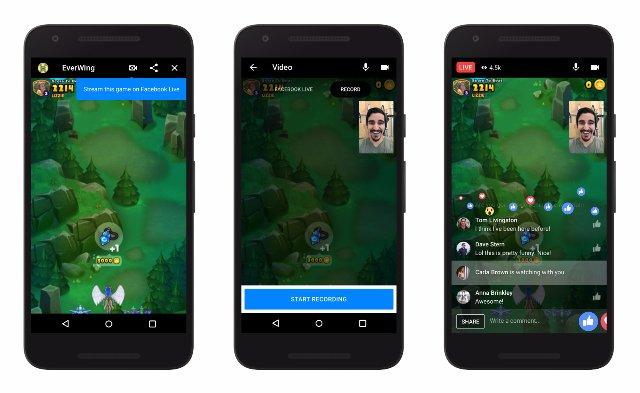 Facebook Live теперь может транслировать игры Messenger