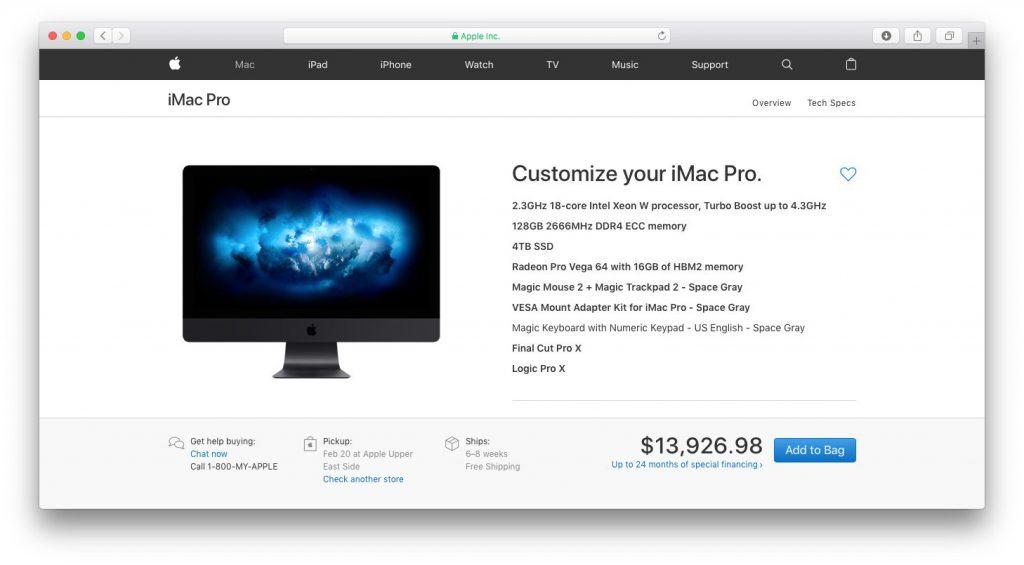 Кто же купит iMac Pro за 380 тысяч рублей?