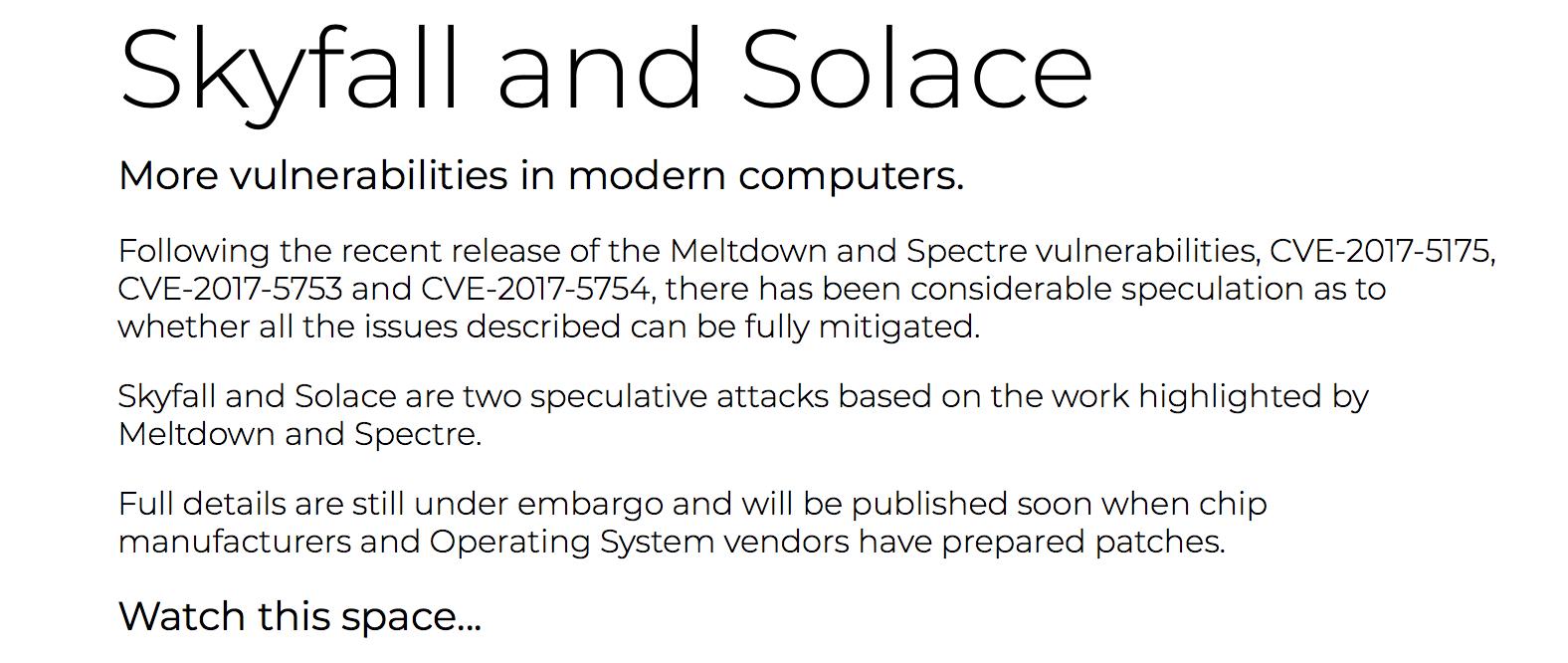 Забудьте уязвимости Meltdown/Spectre, на подходе пачка новых «сюрпризов»