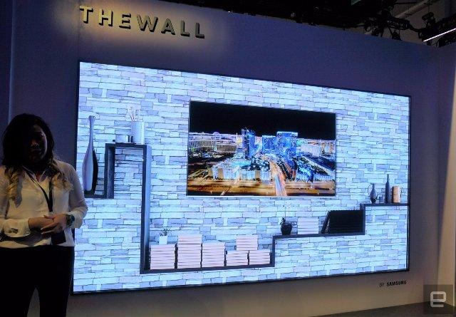 Первый взгляд на массивный 146-дюймовый 4К MicroLED-телевизор Samsung