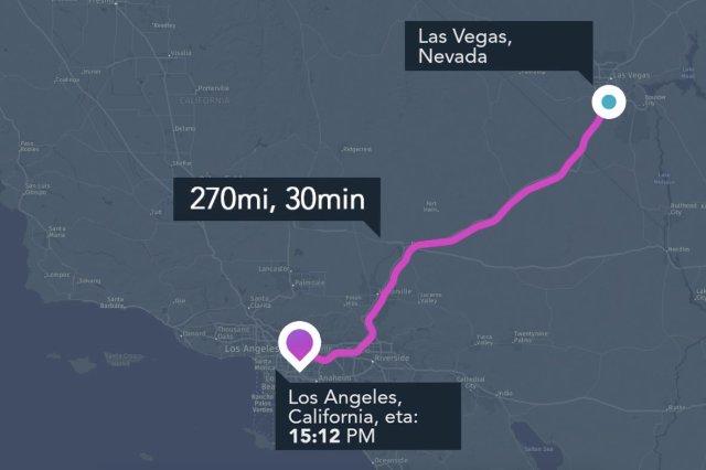 Hyperloop One и Here сделали приложение для воображаемых Hyperloops