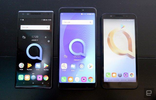 Недорогие телефоны Alcatel получать экран 18:9 от TCL