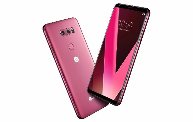 LG запустит «малиновый красный» V30 на выставке CES 2018