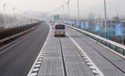 Воры украли часть солнечной дороги в Китае