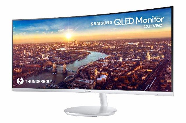 Samsung покажет новый искривленный монитор QLED Thunderbolt 3