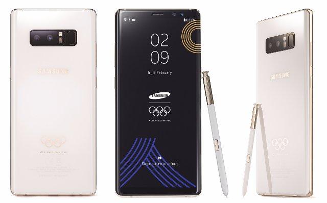 Samsung разработала Galaxy Note 8, посвященный зимним Олимпийскии играм 2018 года
