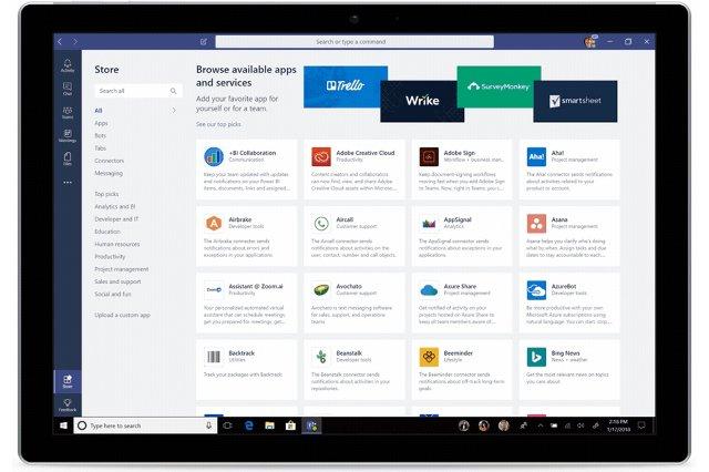 Противник Slack от Microsoft помогает вам находить и использовать приложения