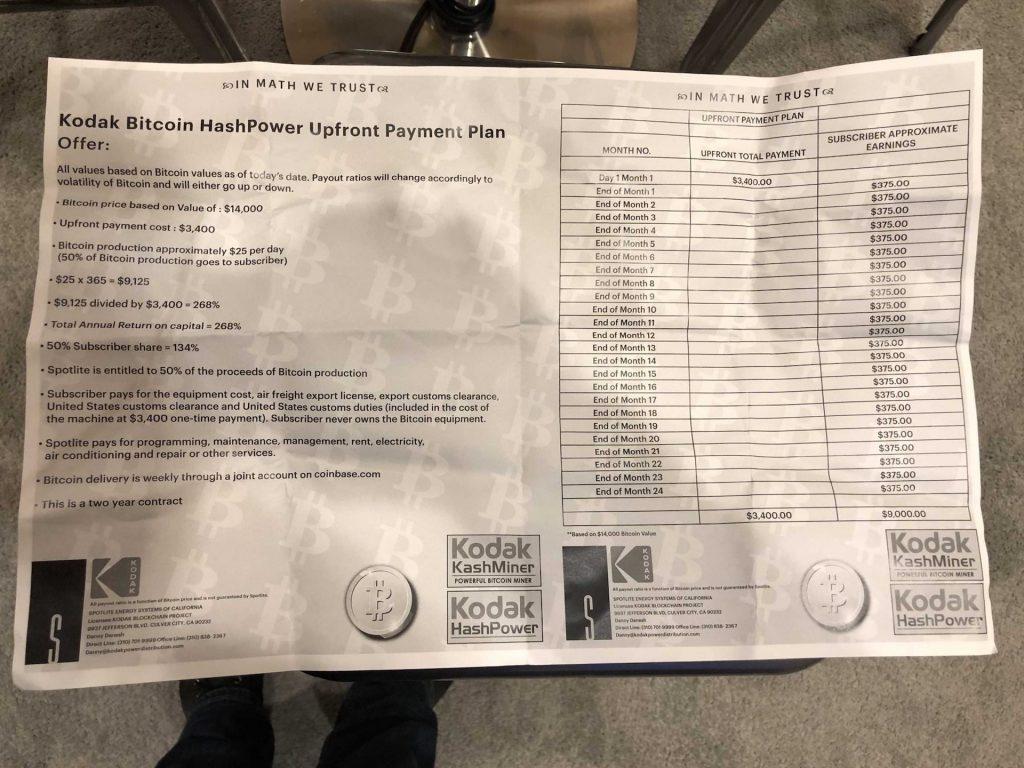 CES 2018: Kodak предлагает напрокат ферму для Bitcoin