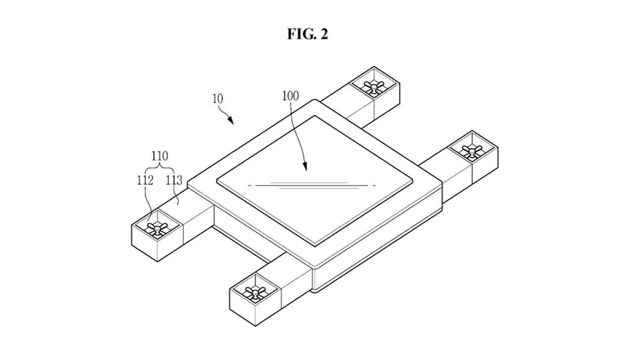 Samsung запатентовал летающий планшет