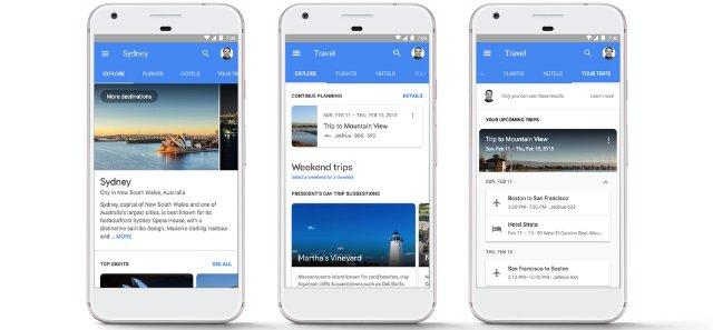 Google позволяет забронировать рейсы и номера в отеле прямо из поиска