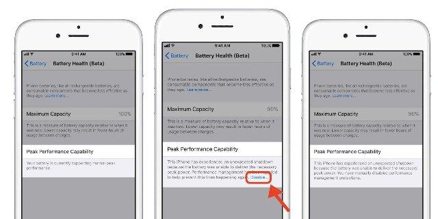 Последняя бета-версия iOS показывает, как будут работать настройки батареи