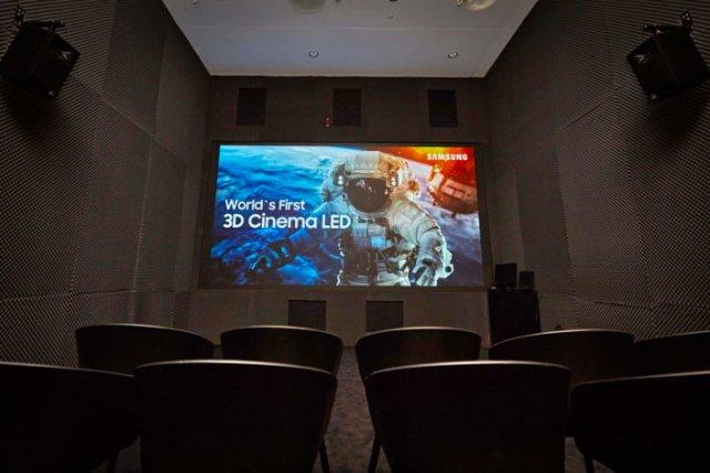 Samsung создала трехмерную версию своего 34-футового светодиодного экрана для кинотеатров