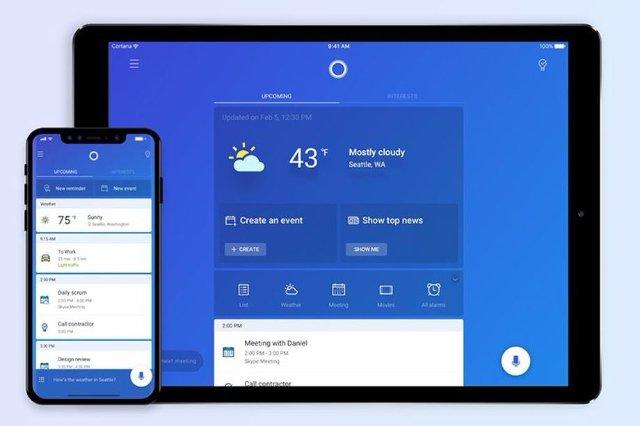 Cortana для iPad в полной мере использует большой экран
