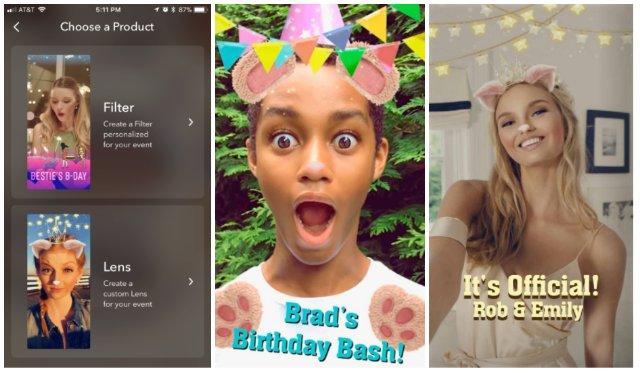 Snapchat позволяет создавать персонализированные линзы для вечеринок