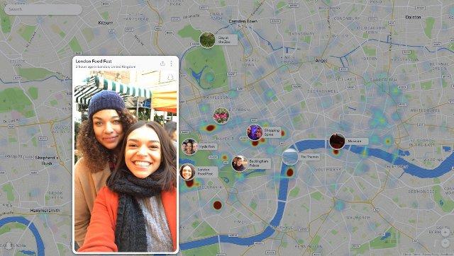 Snapchat привносит Snap Map в Интернет