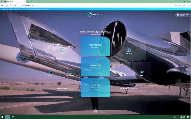 VR-сайт Virgin Galactic позволяет путешествовать по космическим кораблям