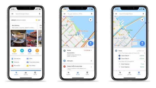 Google Maps для iOS добавляет легкий доступ к информации о трафике и транзите