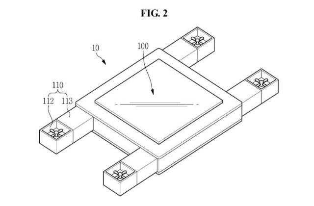 Samsung патентует летающий экран