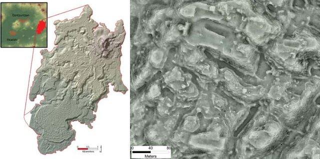 Сканирование LiDAR в древнем городе показало огромное количество зданий