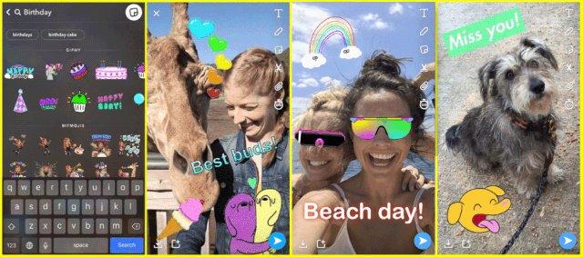 Snapchat добавляет наклейки Giphy GIF, чтобы оживить ваши Истории