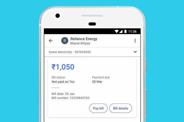 Индийское мобильное приложение от Google может оплачивать счета несколькими нажатиями