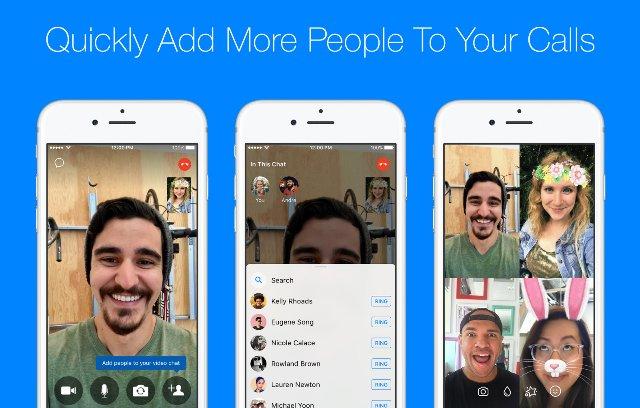 Facebook Messenger добавляет простой способ запуска групповых вызовов