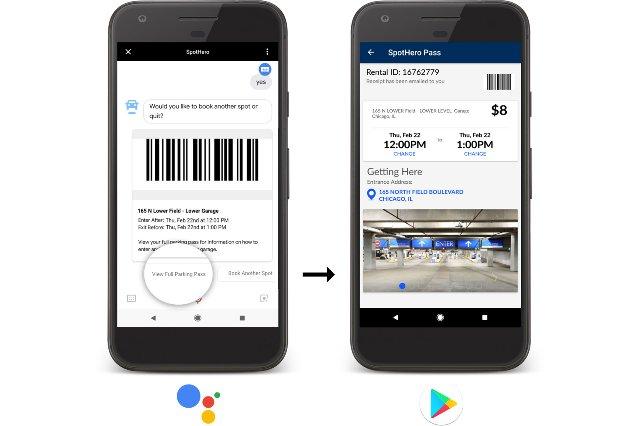 Google Assistant запускает определенные задачи в приложениях Android
