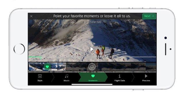 Приложение Parrot автоматически редактирует видеоролики с дрона
