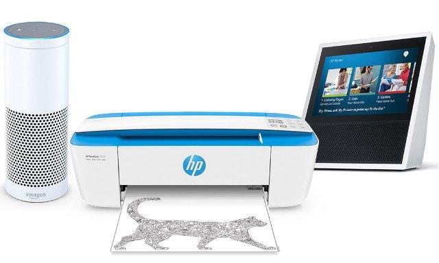 Alexa теперь может контролировать принтер HP