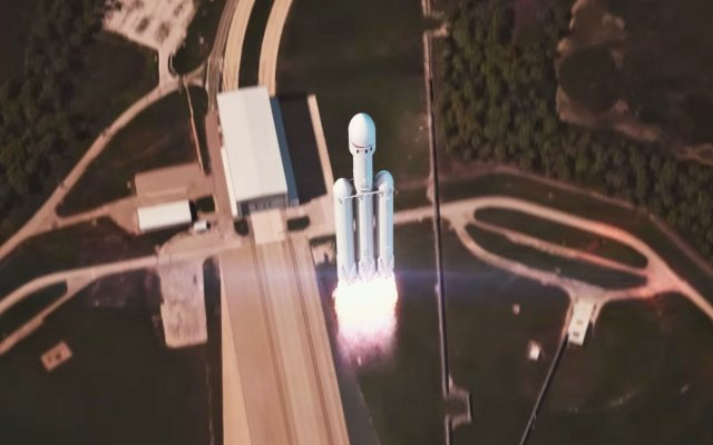 Анимация SpaceX показывает идеальный результат для запуска Falcon Heavy