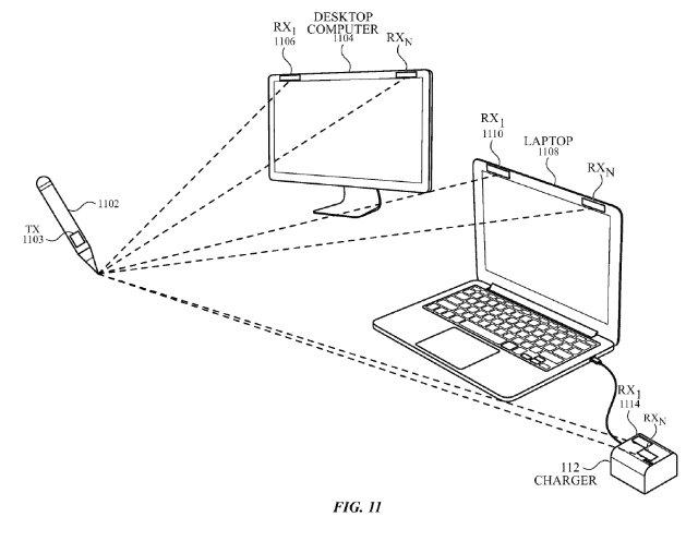 Последний патент Apple показывает Pencil, которая может рисовать в воздухе