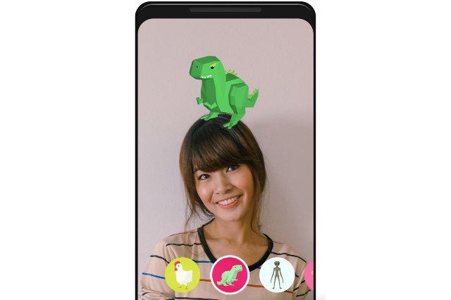 Google добавляет объекты AR в свое приложение для Android в формате GIF