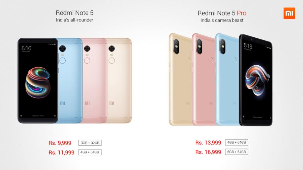Xiaomi Redmi Note 5 и Note 5 Pro теперь официально и с ценами