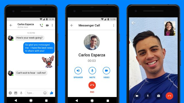Facebook добавляет видеочат в свое легкое приложение Messenger