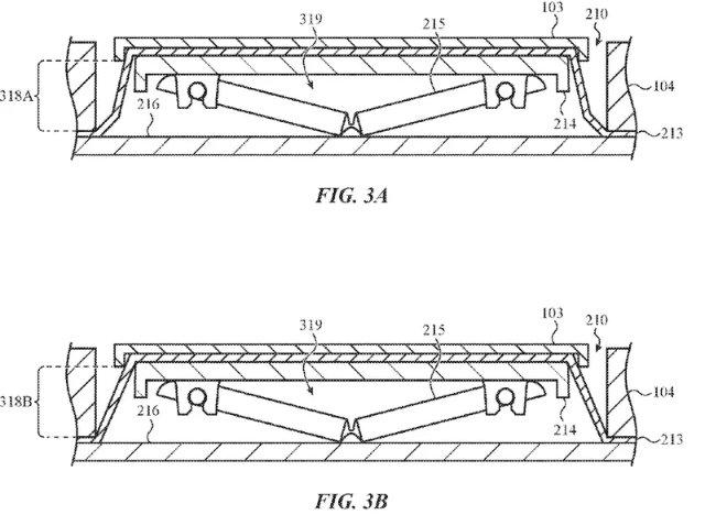 Apple запатентовала клавиатуру, которая сопротивляется крошкам
