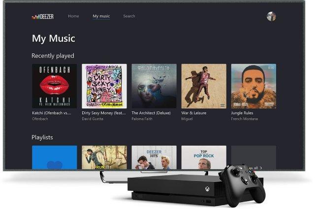 Deezer может предоставить саундтрек для ваших игр Xbox One