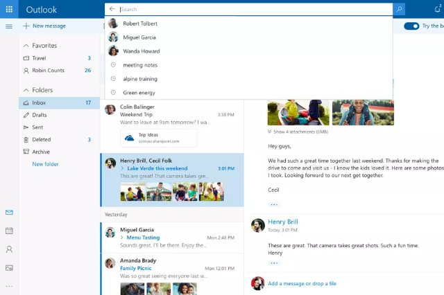 Новый дизайн Microsoft Outlook.com теперь развертывается для всех