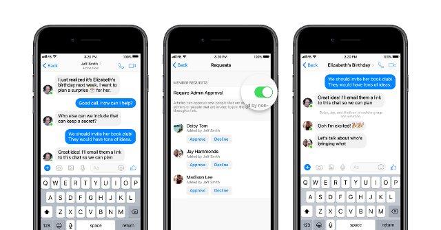 Facebook упрощает управление большими группами в Messenger