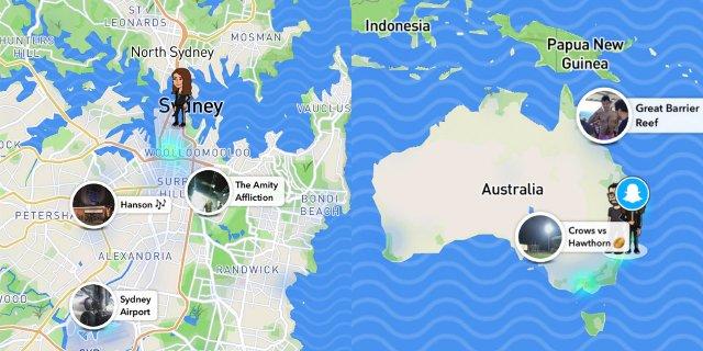 Snapchat Map Explore упрощает поиск друзей