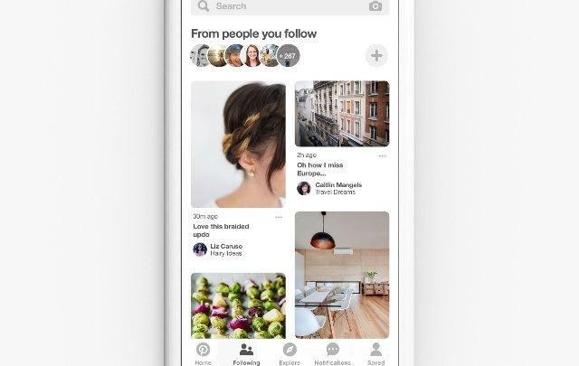 Новая вкладка Pinterest будет показывать контакты только тех людей, за которыми вы следите
