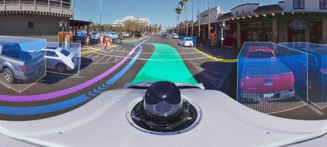 Waymo видео на 360 градусов показывают, как самозанятые автомобили «видят»