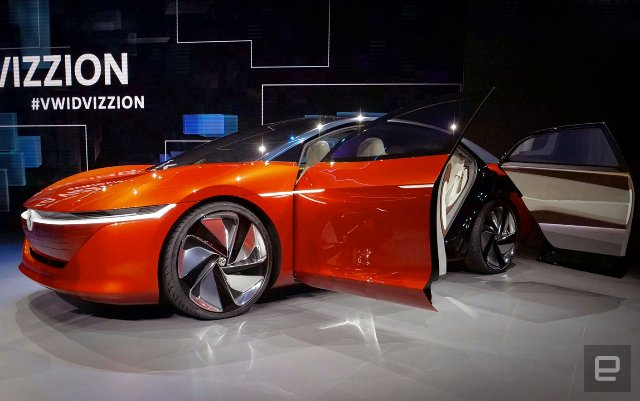 Volkswagen's I.D. представила новый Vizzion EV