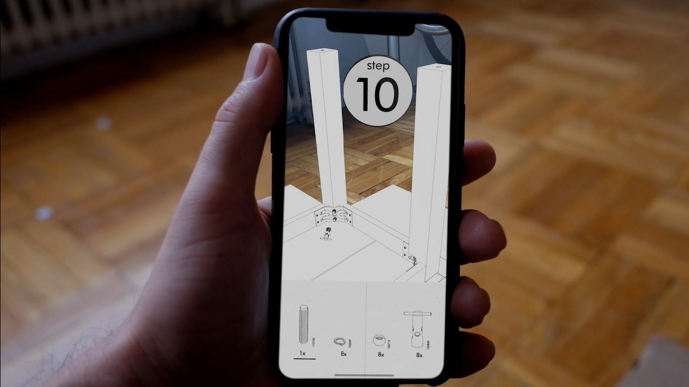 Это концептуальное приложение AR поможет вам собрать мебель Ikea