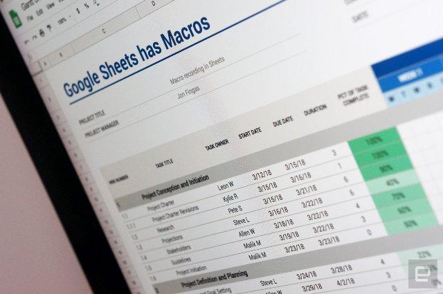 Google ориентируется на профессионалов с макросами в таблицах