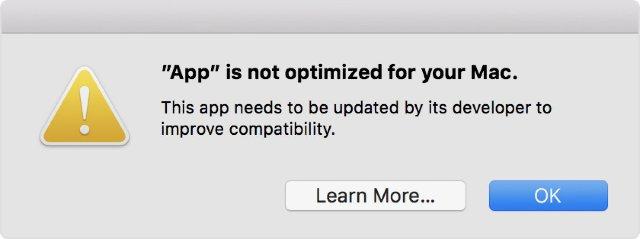Apple предупреждает пользователей Mac о том, что 32-разрядные приложения вскоре перестанут работать