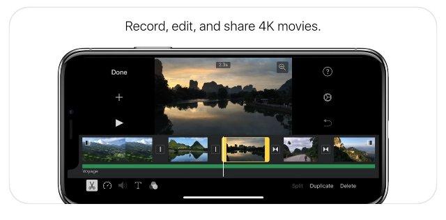 iMovie получает некоторое внимание с обновлением iPhone X