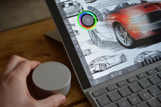 Обновление Surface Pro 4, наконец, позволяет использовать экранную функцию Surface Dial