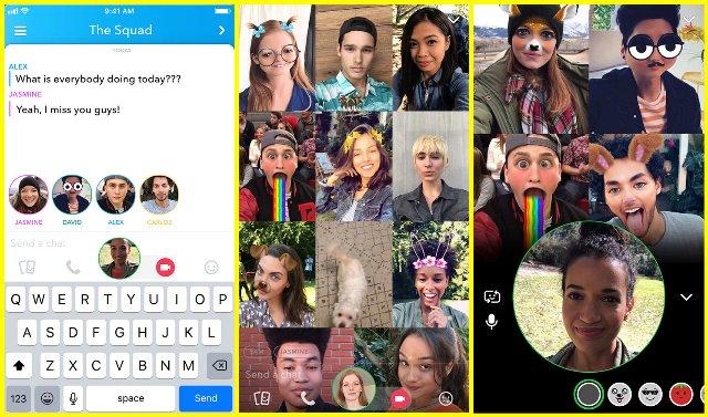 Snapchat добавляет групповые видео-чаты и теги для друзей