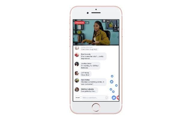 Facebook позволяет создателям превращать премьеры видео в живые события