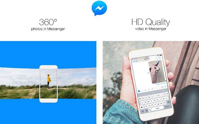Facebook Messenger работает с 360-градусными фотографиями и HD-видео